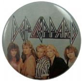 Def Leppard - 'Group Silver' Button Badge